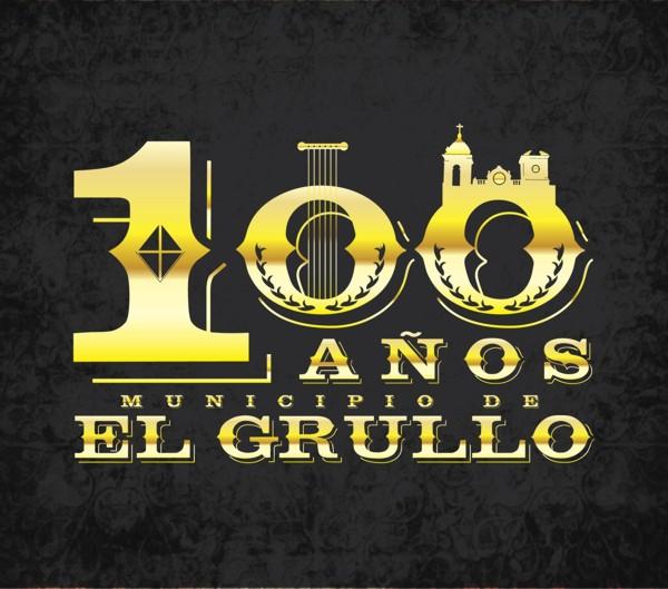 Logotipo 100 años El Grullo_Oro Primer Lugar