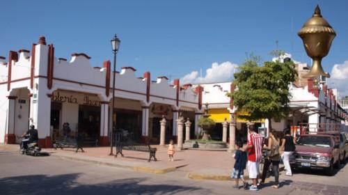Cáliz en el nicho del portal Morelos…