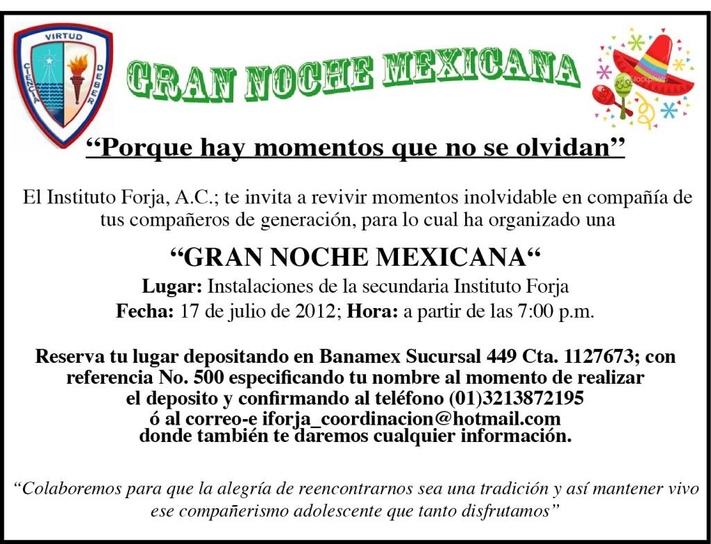 Gran Noche Mexicana en el Instituto Forja